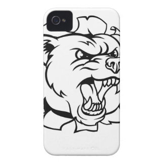 Bear Holding Tennis Ball Breaking Background iPhone 4 Covers