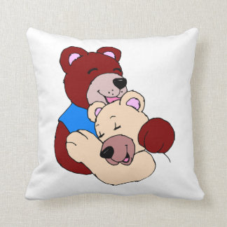 bear hug printed pillow