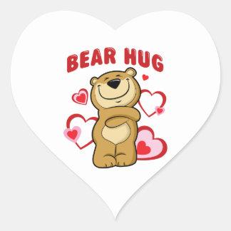 Bear Hug Heart Sticker