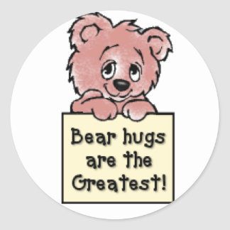 Bear Hugs Classic Round Sticker