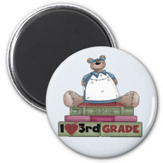Bear I Love 3rd Grade Tshirts and Gifts 6 Cm Round Magnet