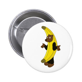Bear in Banana Suit 6 Cm Round Badge