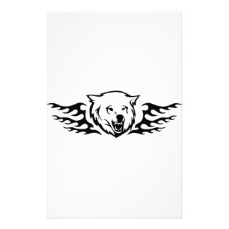 Bear in Flames Stationery