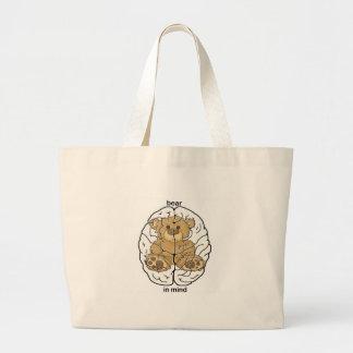 Bear in Mind Large Tote Bag
