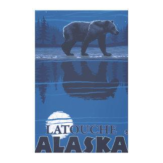 Bear in Moonlight - Latouche, Alaska Canvas Prints