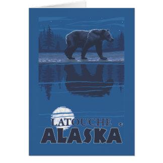 Bear in Moonlight - Latouche, Alaska Card