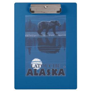 Bear in Moonlight - Latouche, Alaska Clipboards