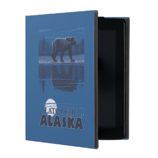 Bear in Moonlight - Latouche, Alaska Covers For iPad