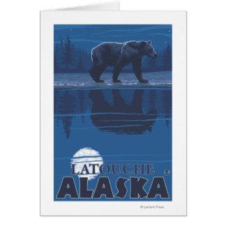 Bear in Moonlight - Latouche, Alaska Greeting Card