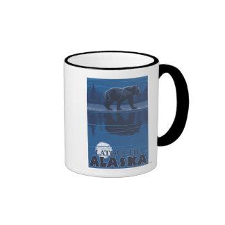 Bear in Moonlight - Latouche, Alaska Mugs