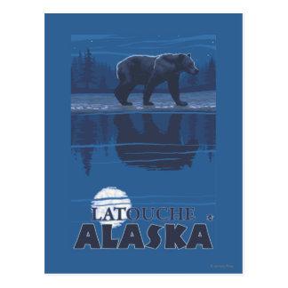 Bear in Moonlight - Latouche, Alaska Postcard