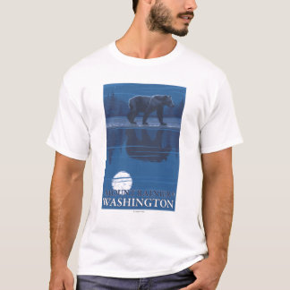 Bear in Moonlight - Mount Rainier, Washington T-Shirt
