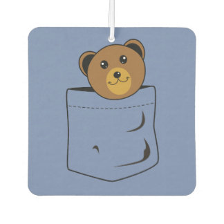 Bear in pocket car air freshener