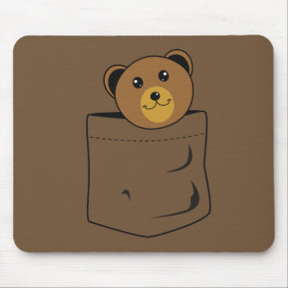 Bear in pocket mouse pad