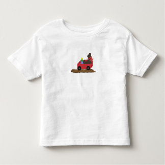 Bear in Red Wagon T Shirt
