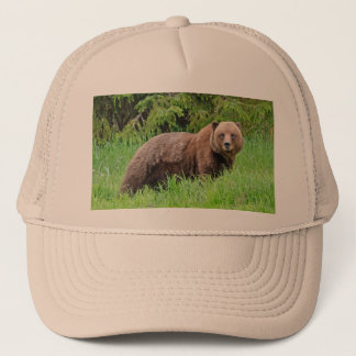 Bear in the Grass Trucker Hat