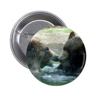 bear in water pencil art pins