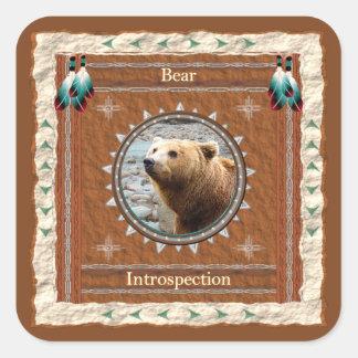 Bear -Introspection- Stickers - 20 per sheet