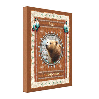 Bear -Introspection- Stretched Wrapped Canvas