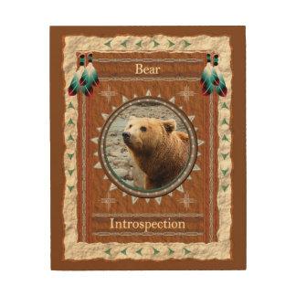 Bear -Introspection- Wood Canvas