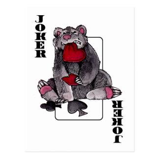 Bear Joker Postcard