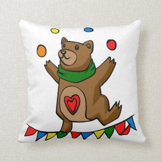 Bear juggling cushion
