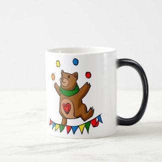 Bear juggling magic mug