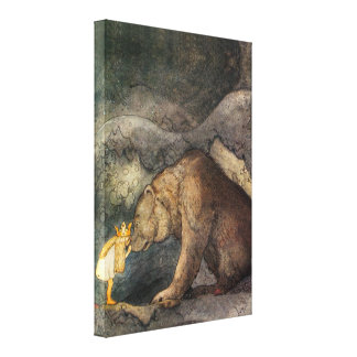 Bear Kiss Stretched Canvas Print