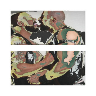 Bear Kiss on Double Canvas (60s Flashback)
