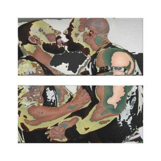Bear Kiss on Double Canvas (60s Flashback) Canvas Print