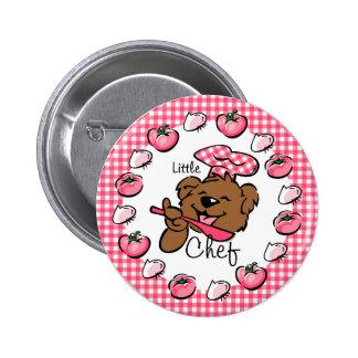 Bear Little Chef Button (Rnd)
