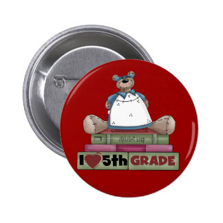 Bear Love 5th Grade Tshirts and Gifts Buttons