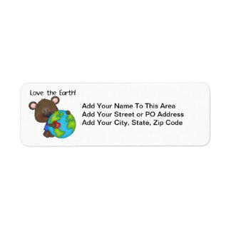 Bear Love the Earth Return Address Label