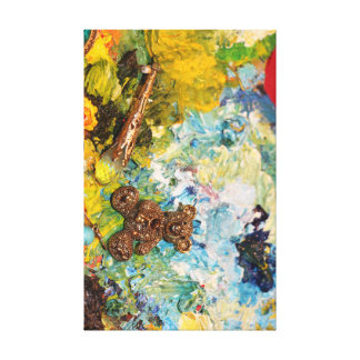 Bear loves jewels gallery wrapped canvas