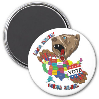 Bear-Magnet-Graphic2 7.5 Cm Round Magnet