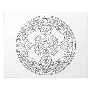 Bear Mandala Coloring Book Pad
