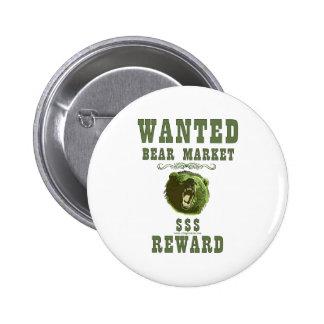 Bear Market Reward 6 Cm Round Badge