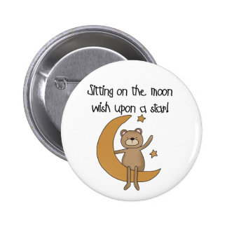 Bear Moon and Stars Tshirts and Gifts Pin
