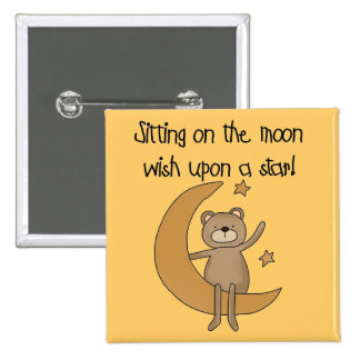 Bear Moon and Stars Tshirts and Gifts Pinback Button