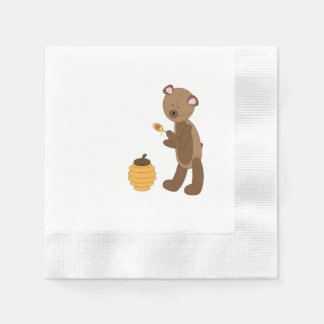 bear napkin paper napkin
