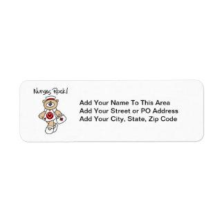 Bear Nurses Rock T-shirts and Gifts Return Address Label