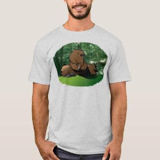 Bear On A Log T-Shirt