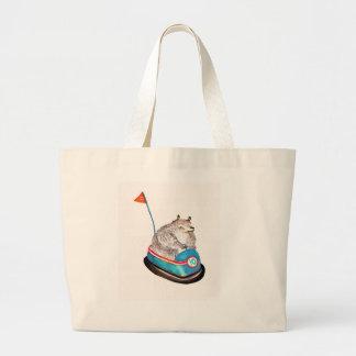 bear on bumper canvas bags