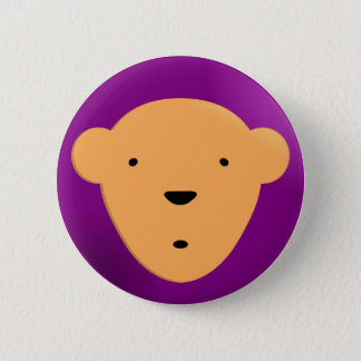 Bear on Purple 6 Cm Round Badge
