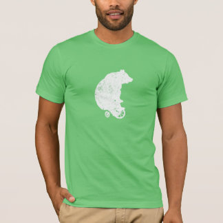 Bear on Tricycle (White) T-Shirt