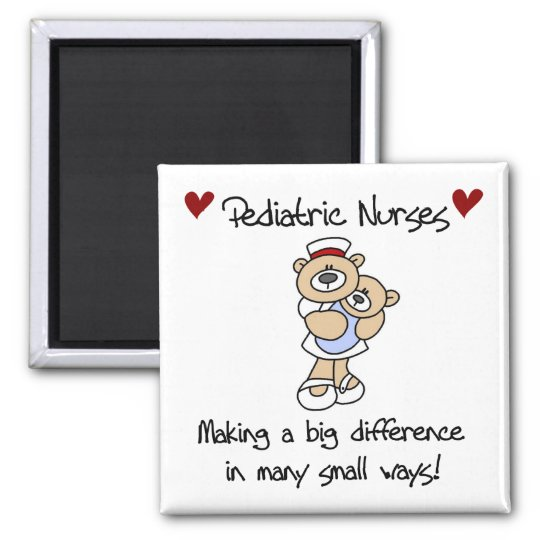 Bear Paediatrics Nurses T-shirts and Gifts Magnet