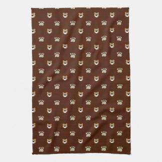 Bear patterns hand towel
