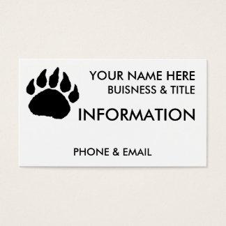 Bear Paw Buisness Cards