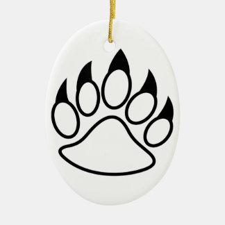 Bear Paw Ceramic Ornament