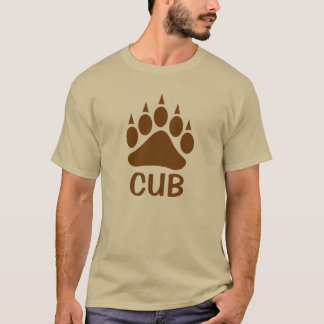 Bear Paw Impress Cub (Dark Brown) T-Shirt
